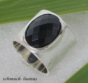 Ring Silber Onyx breit