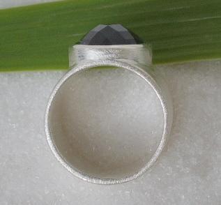 Silber Ring Onyx breit - Vorschau 3