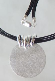 Anhänger Silber rund matt - Vorschau 2