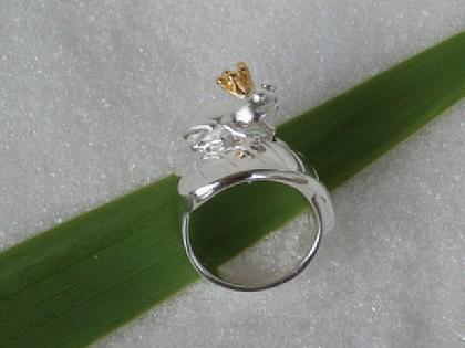 Frosch Ring Silber Froschkönig - Vorschau 2