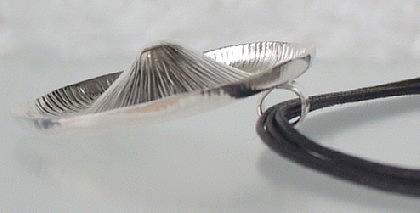 Silber Anhänger matt groß rund - Vorschau 2