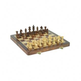 Palisander-Schachkassette - magnetisch - 30 x 15 cm