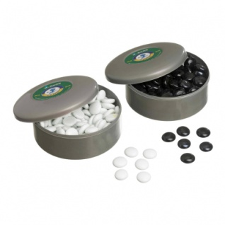 Go-Spielsteine aus Glas - Set schwarz und weiß
