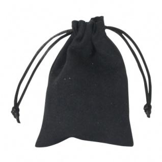 Samtsäckchen schwarz - klein - ca. 100 x 75 mm - lang - schwarz