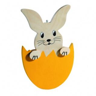 Holzfiguren Hase im Ei - handbemalt - 18 x 26 cm