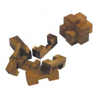 Teufelsknoten - 6 Puzzleteile - Denkspiel - Knobelspiel - Geduldspiel