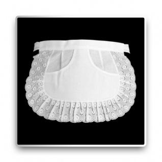 Spitzen-Servierschürze - weiß - 27 cm