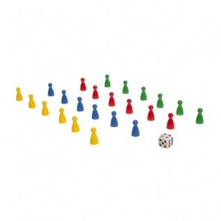 Spielset - 24 Halmakegel und ein Würfel