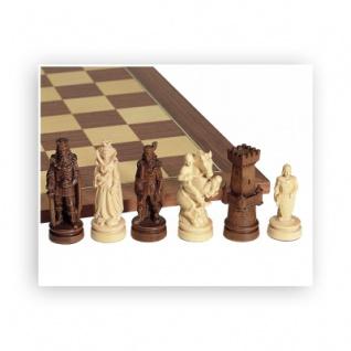 Schachfiguren - schön geschnitzt - Ahorn - Königshöhe 100mm