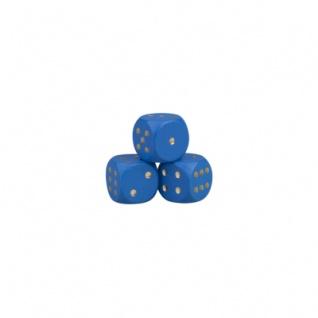 Augenwürfel - 12mm - Holz - blau