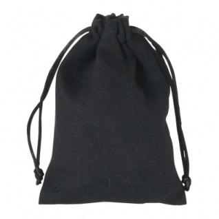 Samtsäckchen schwarz - mittel - ca. 140 x 100 mm - lang - schwarz