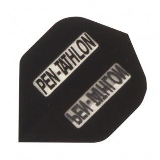 3 x Fly Pen-Tathlon - Standard Flight - schwarz - Kunststoff - 100 My