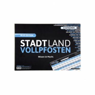 STADT LAND VOLLPFOSTEN - Erweiterung BLUE EDITION (im Din A3-Format)