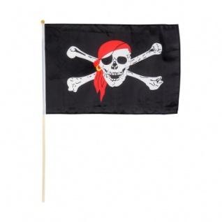 Piraten-Stockflagge 30 x 40 cm - Vorschau 1