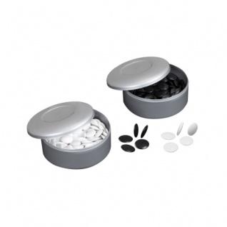 Go-Spielsteine - Kunststoff - schwarz und weiß - 22mm
