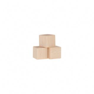 Würfel - Spielsteine - kantig - natur - Holz - 10 mm