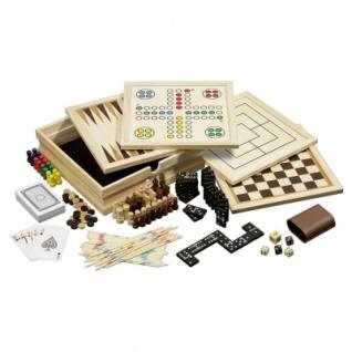 Holz-Spielesammlung - inkl. 10 Spiele - klein