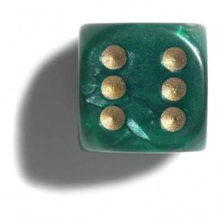 Würfel - 12 mm - grün - pearl - 36 Stück