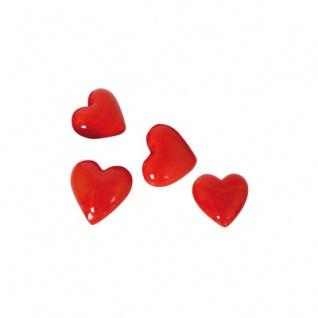 Glas-Herzen rot - 12-tlg.