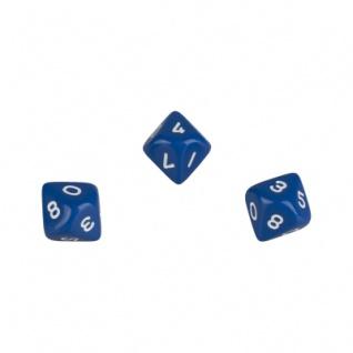 10-seitiger Würfel - Trapezoeder - W10 - 0-9 - blau