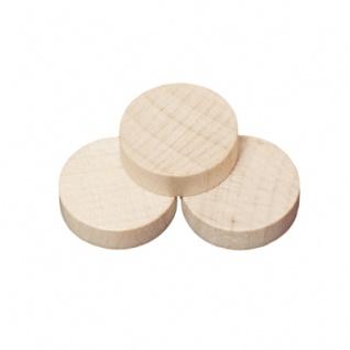 Spielsteine - rund - Holz - natur - 21 x 6 mm