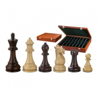 Schachfiguren - Justitian - Holz - American Staunton - Königshöhe 105 mm