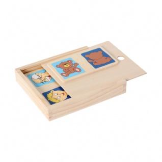 Holzpuzzle-Set Gegensätze (10) in Holzbox - Vorschau 1