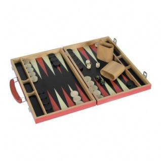 Edelholz - Backgammon - rot - 38x25x5 cm
