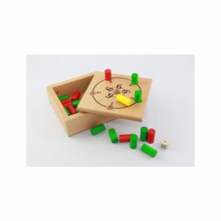 Rund um die 6 - Würfelspiel - Holz - 14x14 cm