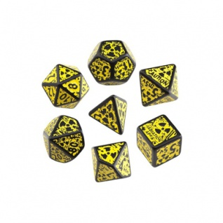 Nuke Revised Dice Black and Yellow - 7 Würfel