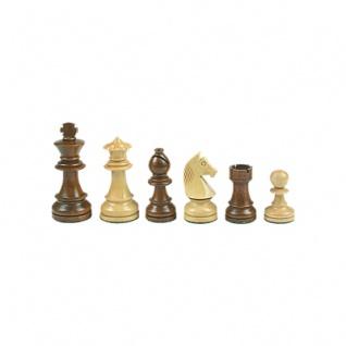 Schachfiguren - Staunton - braun - Königshöhe 76 mm - gewichtet