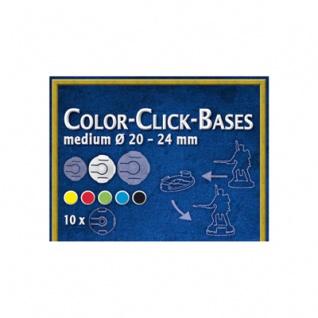 Color-Click Bases Medium (10) - 20-24mm YELLOW