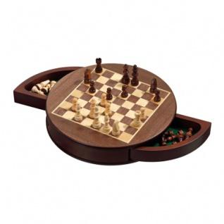 Schachspiel - Schachkassette - Rund - magnetisch - Breite ca. 31 cm