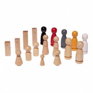 Figurensatz Familie - 18 unterschiedliche Figuren