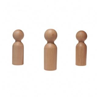 Holzkegel - Holzfiguren - Pöppel - ca. 18 cm