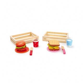 Hamburger und Sandwich