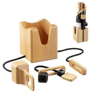 Flaschen-Safe - 2 Puzzleteile - Denkspiel - Knobelspiel - Geduldspiel