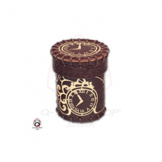 Steampunk Brown und golden Leather Dice Cup