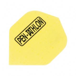 3 x Fly Pen-Tathlon - Standard Flight - gelb - Kunststoff - 100 My