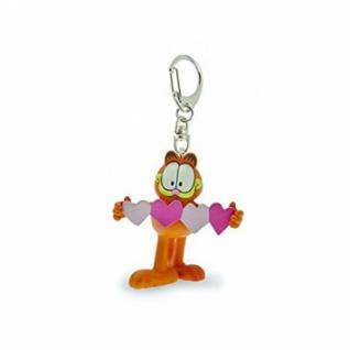 Garfield - Garfield mit Herz Schlüsselanhänger
