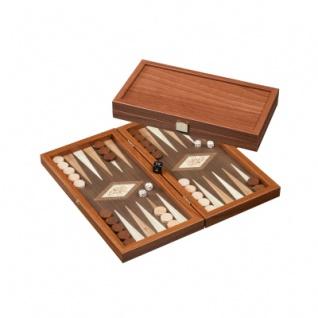 Kythira - klein - Backgammon - Walnussoptik