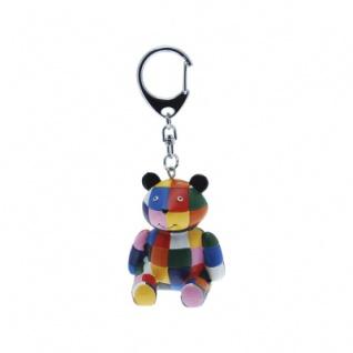 Elmer der Elefant - Teddybär - Schlüsselanhänger