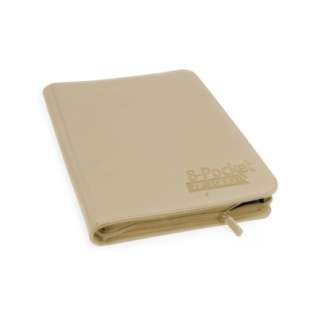 Ultimate Guard 8-Pocket QuadRow Zipfolio Xenoskin Sand
