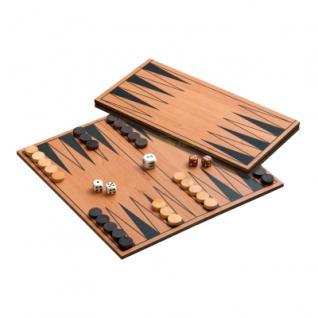 Backgammon - klappbares Holzspielbrett - Agapios