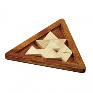 Tribar-Puzzle - Robinienholz - 4 Puzzleteile - Denkspiel - Knobelspiel