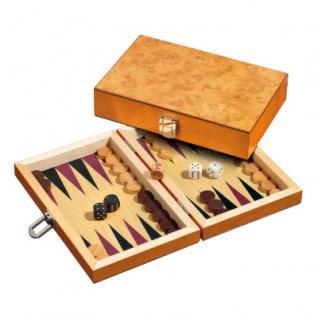 Backgammon - Reisespiel - Kassette - Fotios - Holz - mini