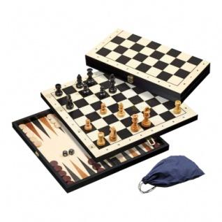 Schach-Backgammon-Dame-Set - Feld 44 mm