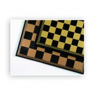 Schachbrett - Salpaleder - schwarz und gold - Breite 33 cm - Feldgröße 35 mm