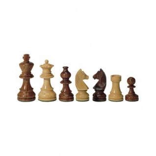 Schachfiguren - Teak und Buchsbaum - Königshöhe 83 mm