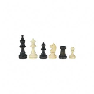 Schachfiguren - Bohemia - Staunton - braun - Königshöhe 62 mm